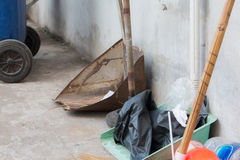 Dustpan and broom Stock Photo