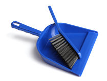 Dustpan and brush Stock Image