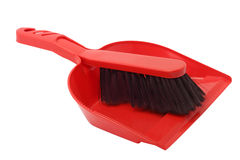 Dustpan and brush Royalty Free Stock Photography