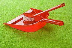 Dustpan with brush Stock Image