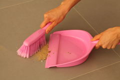 Dustpan and brush Stock Photography