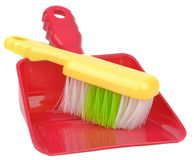 A dustpan and brush Stock Images