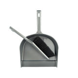 Dustpan and brush floor sweeper Royalty Free Stock Images