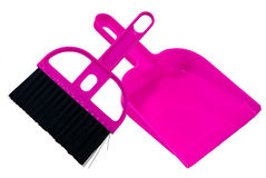 Dustpan and brush. Royalty Free Stock Photography