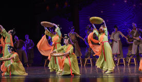 """Dustpan dance-Dance drama """"The Dream of Maritime Silk Road"""". Dance drama """"The Dream of Maritime Silk Road"""" centers on the plot of two generations royalty free stock images"""