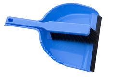 Dustpan e escova Fotografia de Stock Royalty Free