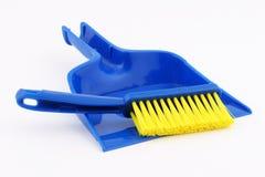 Dustpan e scopa del giocattolo Fotografia Stock