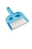Dustpan e spazzola Fotografie Stock