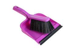 Dustpan and hand brush Stock Image