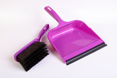 Dustpan and hand brush Royalty Free Stock Images