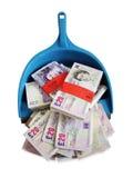 dustpan money Στοκ φωτογραφία με δικαίωμα ελεύθερης χρήσης