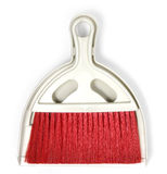 Dustpan and Red Plastic broom set Stock Photography