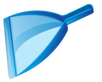 Dustpan for rubbish. Blue dustpan for cleaning the rubbish on white background vector illustration