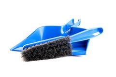 Dustpan und Pinsel Lizenzfreies Stockbild