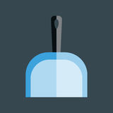 Dustpan vector icon. Royalty Free Stock Image