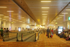 Duststorm inom den New Delhi flygplatsen på Maj 30, 2014 Royaltyfria Bilder