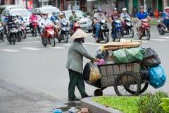 Dustwoman mayor vietnamita, Saigon Fotografía de archivo libre de regalías