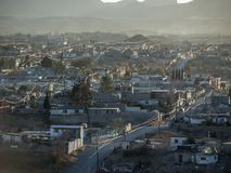 Dusty Juarez Mexico Afternoon. Dusty afternoon cityscape in Juarez Mexico Royalty Free Stock Photo