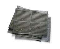 Dusty air conditioner filter Stock Images