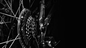 Dusty Bike Rear Wheel Cassette Immagine Stock Libera da Diritti
