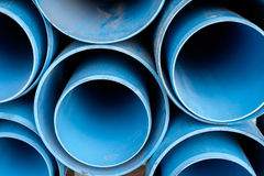 Dusty blue pipe pvc Stock Image