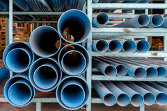 Dusty blue pipe pvc Royalty Free Stock Photos
