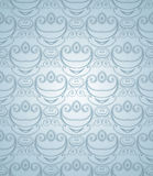 Dusty blue seamless pattern. Royalty Free Stock Photos