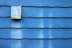 Dusty Blue Wooden Shingles Royalty Free Stock Images