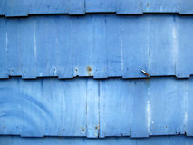 Dusty Blue Wooden Shingles Royalty Free Stock Photography