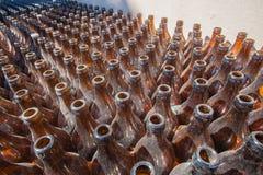 Dusty Brown Beer Bottles immagini stock