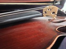Dusty Brown Violin Royalty Free Stock Photos
