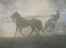 Dusty chuckwagon Stock Photos
