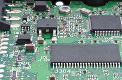 Dusty circuit board Stock Photos