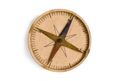 Dusty compass. Old compass on white background royalty free stock photo