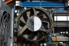 Dusty computer fan Royalty Free Stock Photography