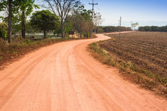 Dusty Country Road. A dusty road in countryside Royalty Free Stock Photos
