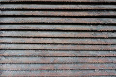 Dusty cracked and scratched ventilation grille. Dusty cracked and scratched painted ventilation grille Royalty Free Stock Photo