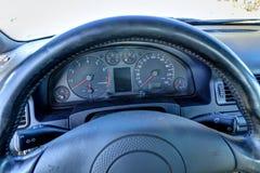 Dusty dashboard Stock Photo