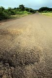 Dusty dirt road in the Galapagos highlands Stock Photography