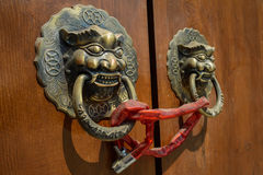Dusty door knockers Royalty Free Stock Photo