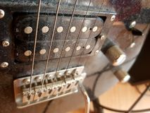 Dusty electric guitar strings Royalty Free Stock Image