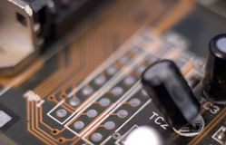 Dusty Electronic, circuit, board,macro royalty free stock images