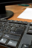 Dusty Enter key in the office Stock Image