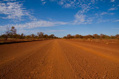 Dusty gravel track Royalty Free Stock Photos