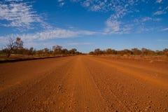 Dusty gravel track Royalty Free Stock Photos