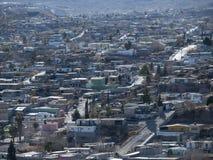 Juarez. Dusty hillside barrio in Juarez Mexico Royalty Free Stock Photos