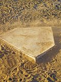 Dusty Home Plate. Home base being blown over by the wind Royalty Free Stock Photo