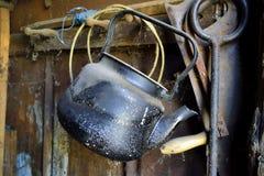 Dusty kettle royalty free stock photo