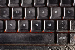 Dusty keyboard Royalty Free Stock Photography