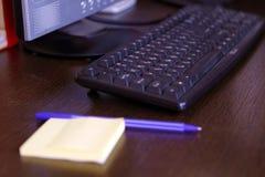Dusty Keyboard sur le bureau Photographie stock